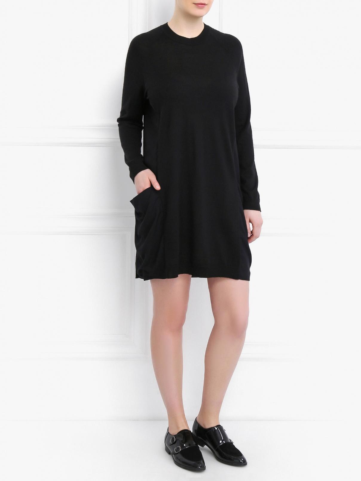 Платье свободного кроя Marina Sport  –  Модель Общий вид  – Цвет:  Черный