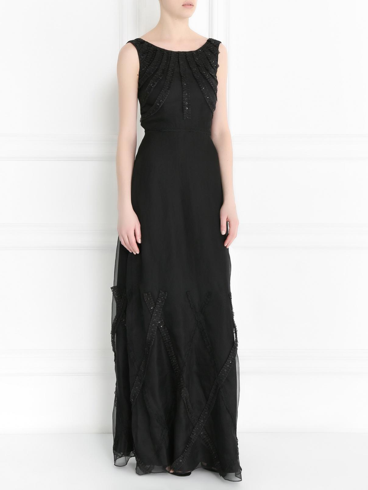 Платье-макси из шелка с декором Moschino Cheap&Chic  –  Модель Общий вид