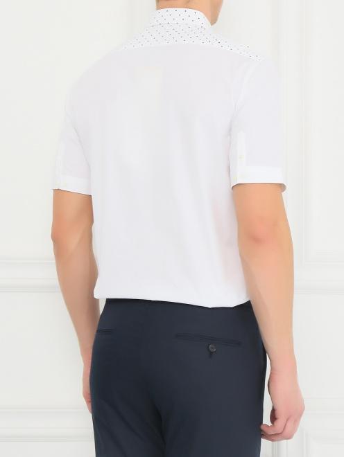 Рубашка из хлопка с короткими рукавами - Модель Верх-Низ1