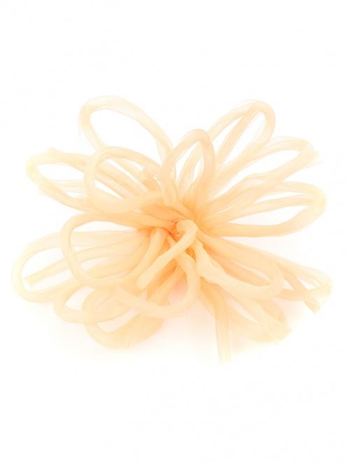 Брошь из текстиля в форме цветка - Общий вид