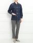Куртка из денима декорированная стразами Sonia Rykiel  –  Модель Общий вид