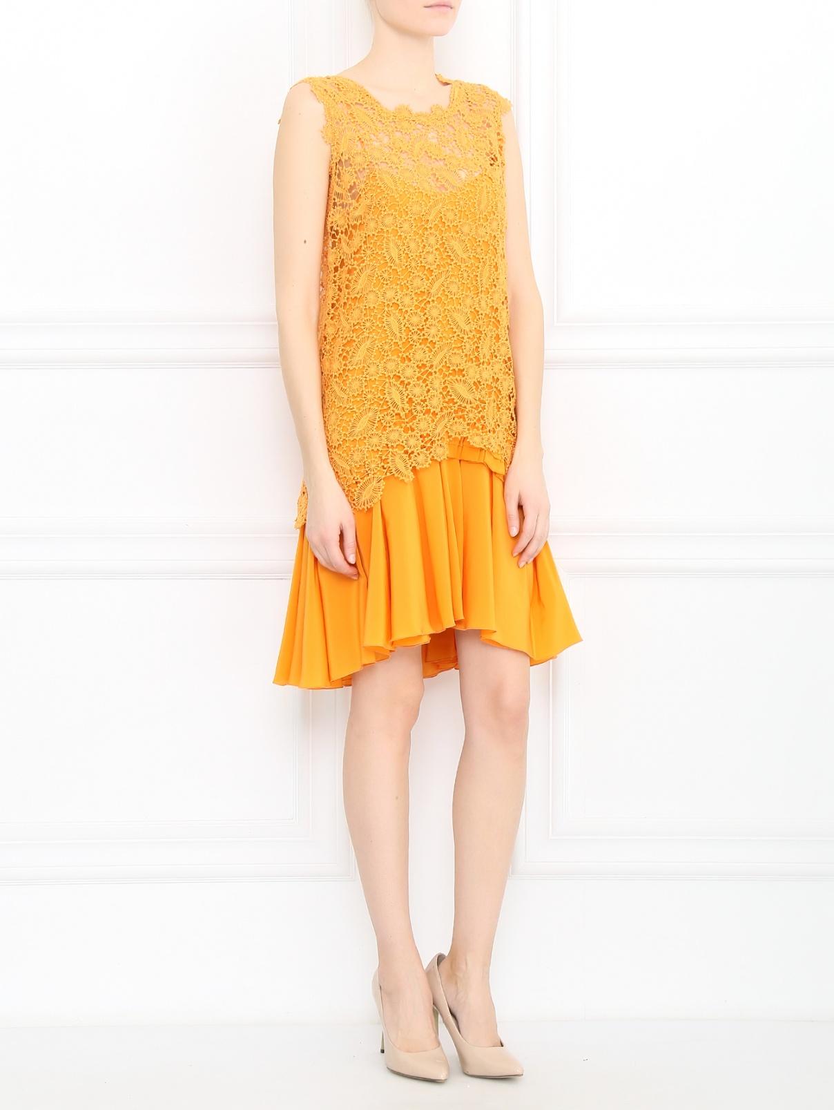 Платье-миди из хлопка Ermanno Scervino  –  Модель Общий вид