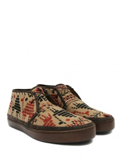 Ботинки из кожи с узором - Общий вид