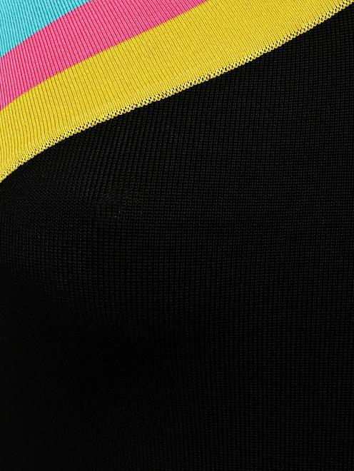 Платье-футляр с контрастной окантовкой - Деталь1