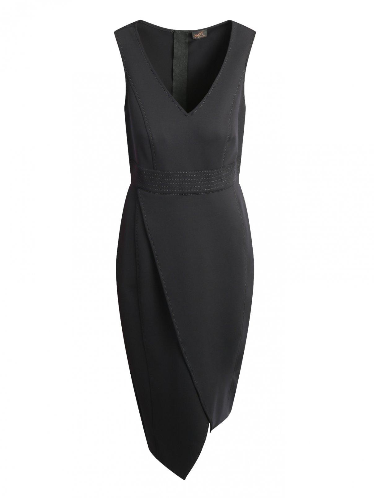 Платье-футляр без рукавов с запахом Marina Rinaldi  –  Общий вид