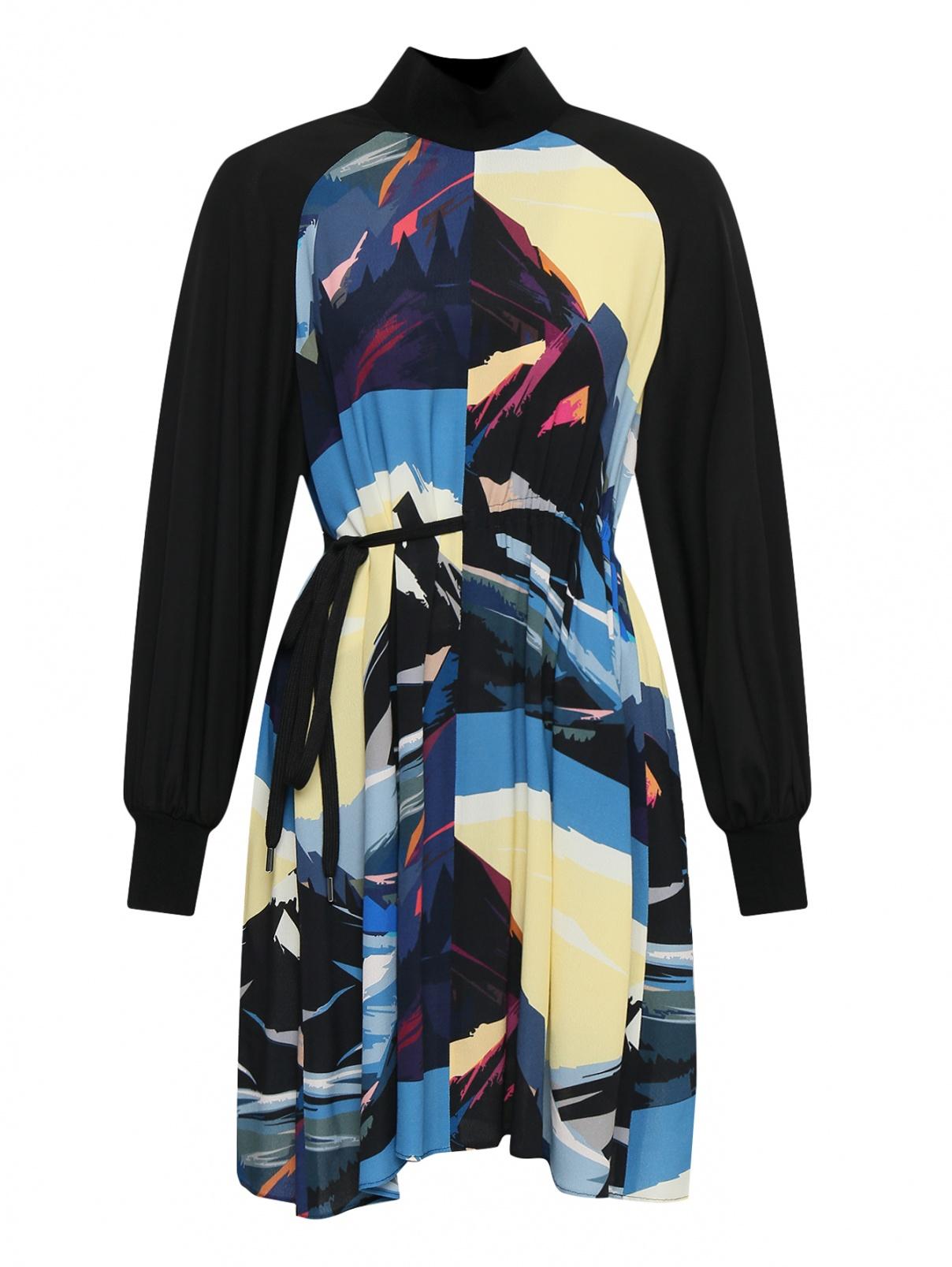 Платье-мини с узором Sportmax  –  Общий вид