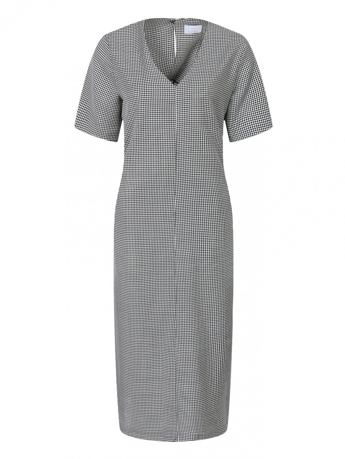 Платье из шерсти с узором и боковыми карманами Marina Rinaldi  –  Общий вид