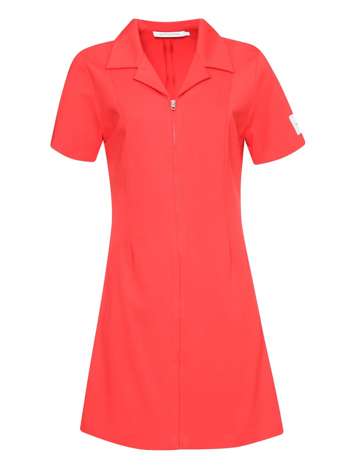 Платье-мини на молнии с короткими рукавами Calvin Klein Jeans  –  Общий вид