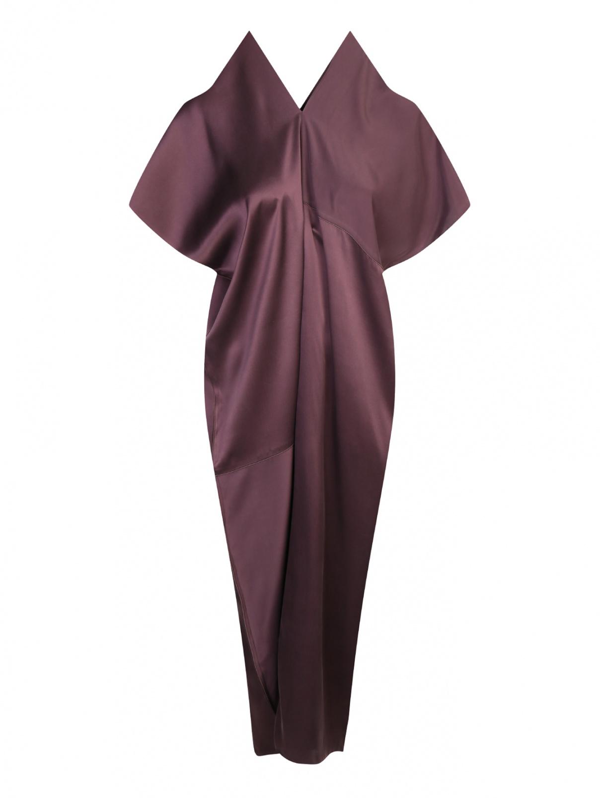 Платье-миди из шелка с короткими свободными рукавами Max Mara  –  Общий вид