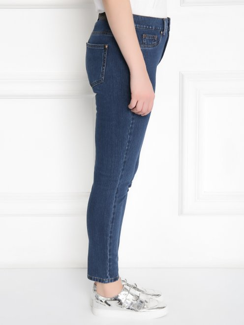 Зауженные джинсы из эластичного денима - МодельВерхНиз2