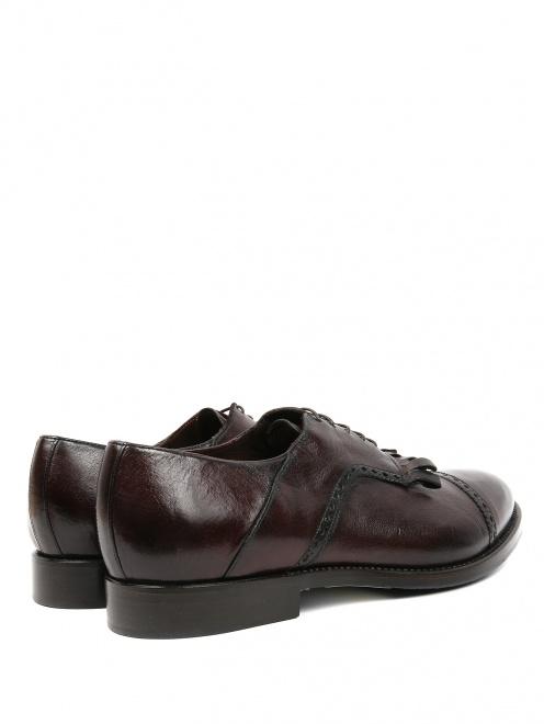 Ботинки из кожи с бахромой  - Обтравка2