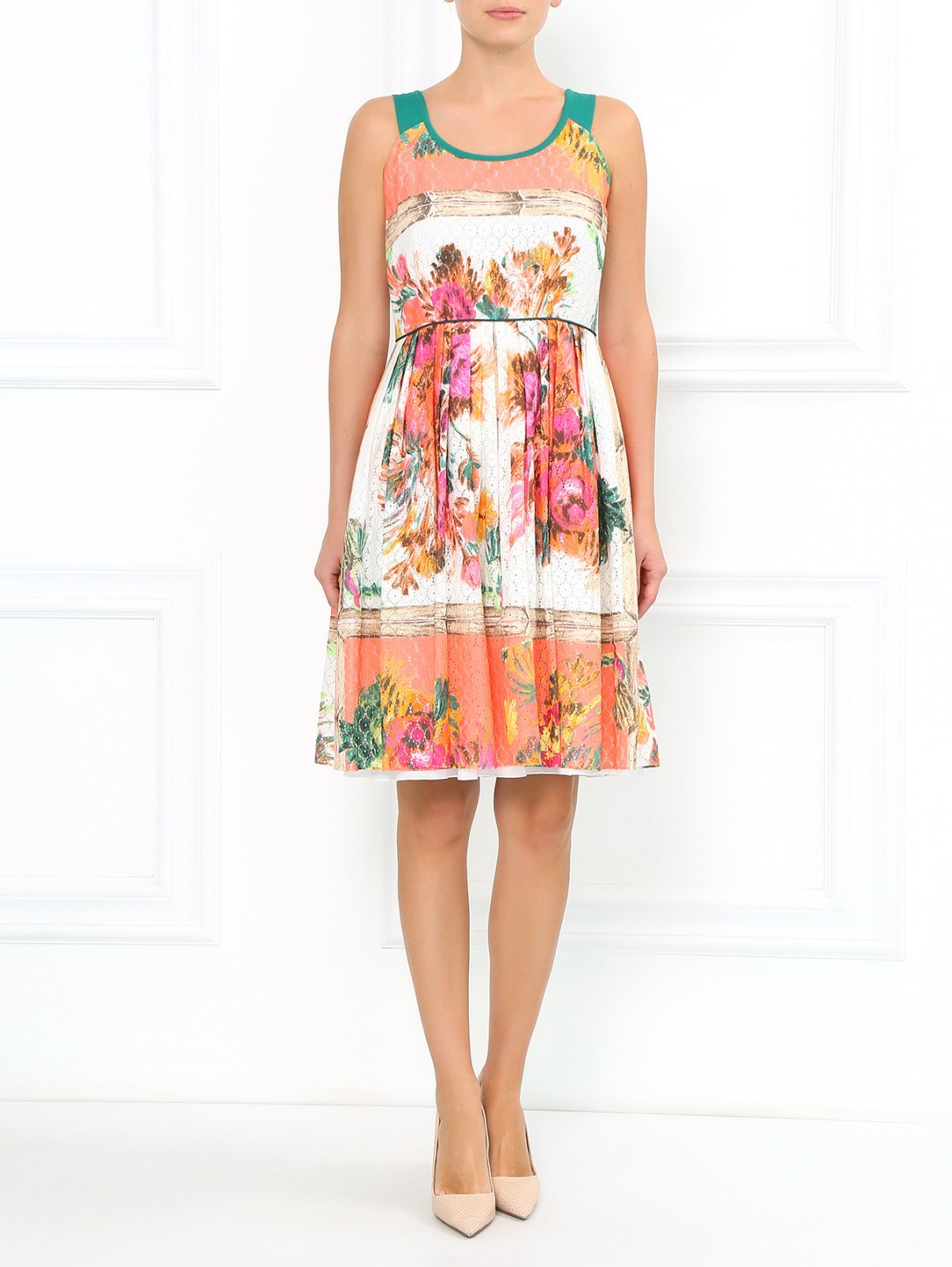 Платье из смешанного хлопка с цветочным узором Antonio Marras  –  Модель Общий вид