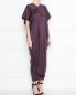 Платье-миди из шелка с короткими свободными рукавами Max Mara  –  МодельВерхНиз