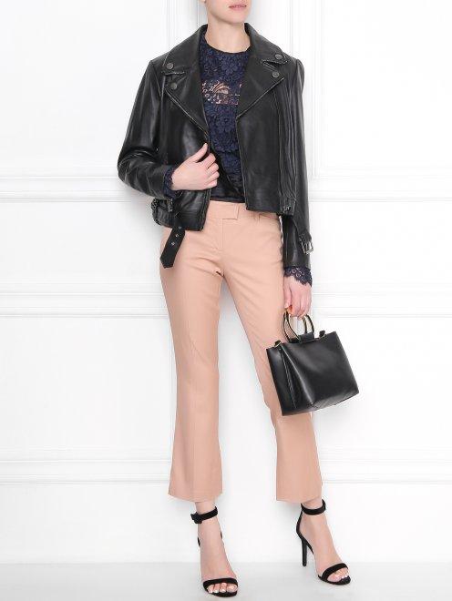 Кружевная блуза с декором - Общий вид