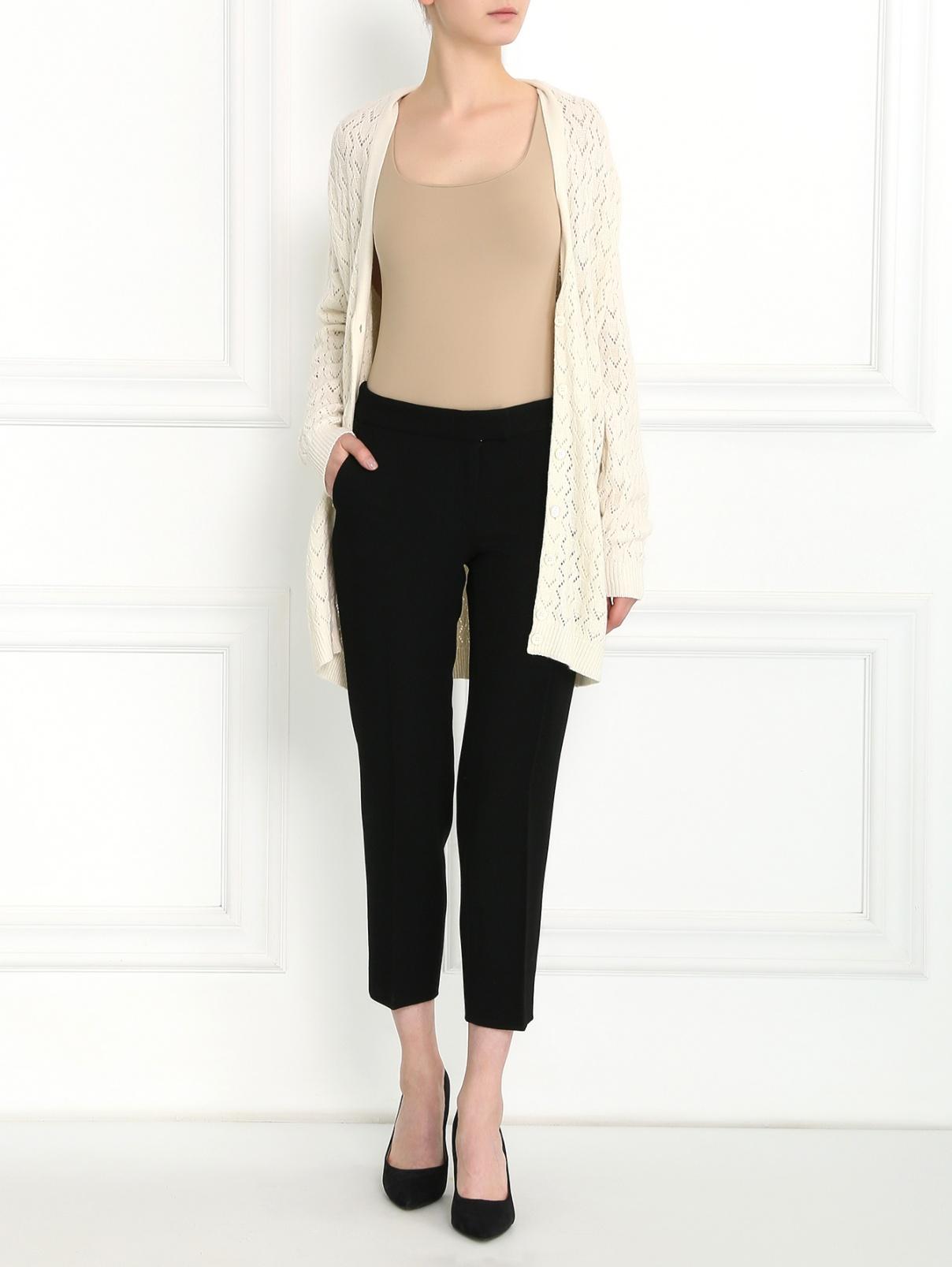 Укороченные брюки из шерсти Moschino  –  Модель Общий вид