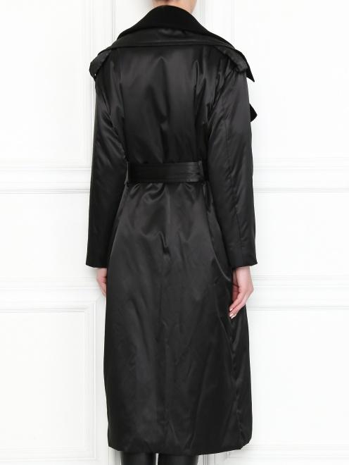 Пальто свободного кроя с поясом - МодельВерхНиз1