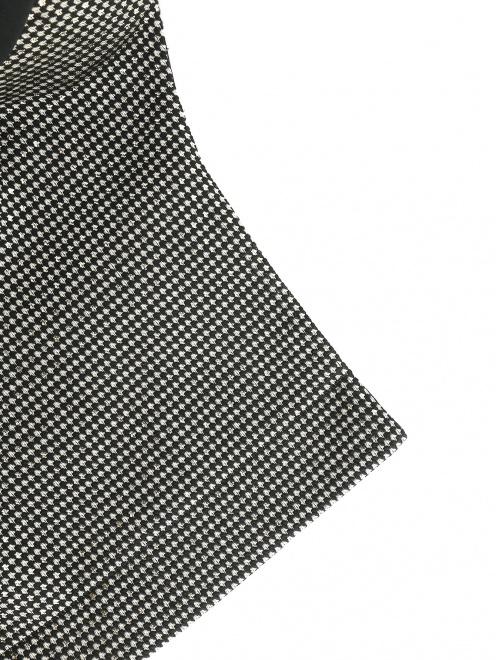 Приталенный жакет из смесовой шерсти с контрастной отделкой - Деталь1