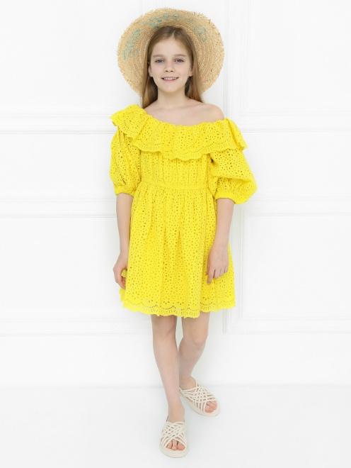 Платье из фактурного кружева - Общий вид