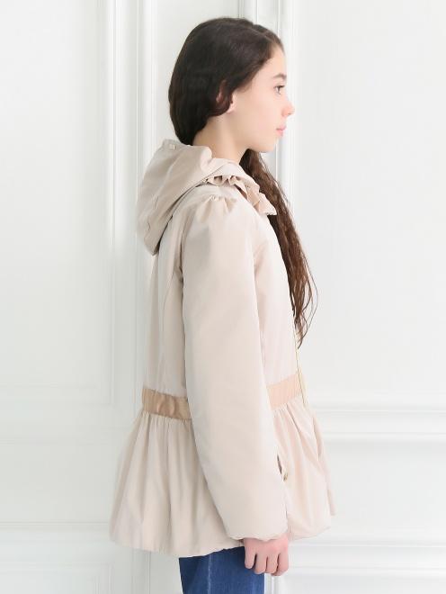 Куртка декорированная рюшами - Модель Верх-Низ2