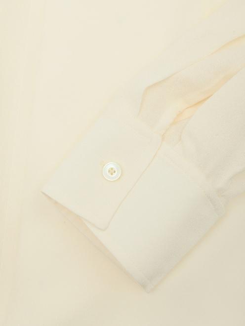 Блуза из шелка свободного кроя - Деталь1