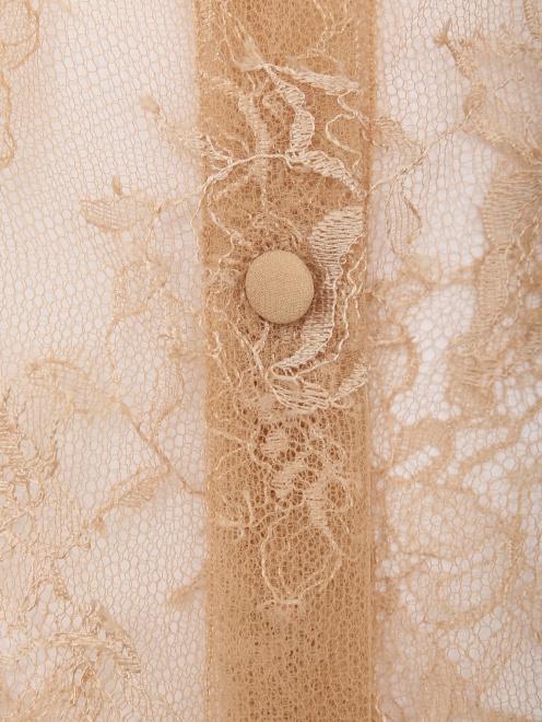 Блуза из шелка с кружевным узором - Деталь1
