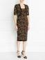 Платье с узором на молнии Michael Kors  –  Модель Общий вид