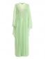 Платье-макси с высокой талией и асимметричными рукавами Alberta Ferretti  –  Общий вид