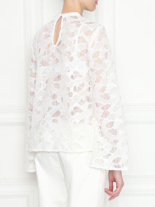 Полупрозрачная блуза свободного кроя - МодельВерхНиз1