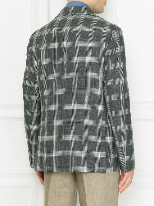 Пиджак из шерсти и льна  - МодельВерхНиз1