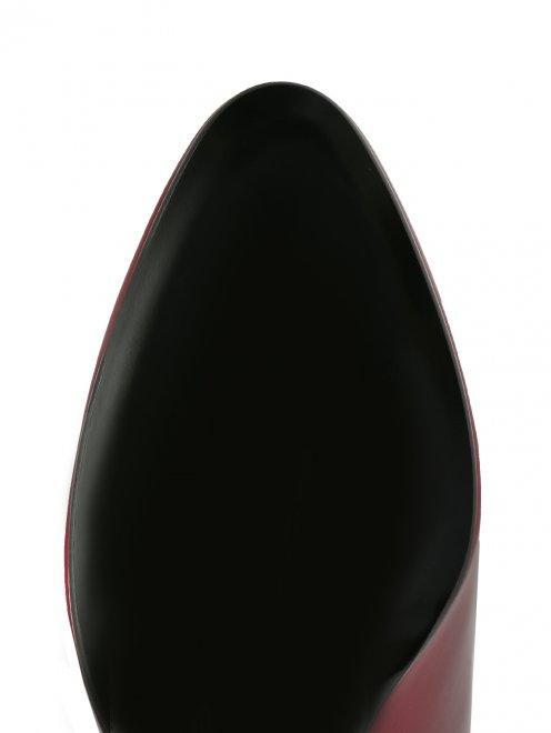 Сапоги из лаковой кожи на среднем каблуке - Обтравка4