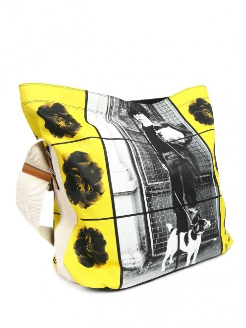 Большая сумка из хлопка с узором - Обтравка1