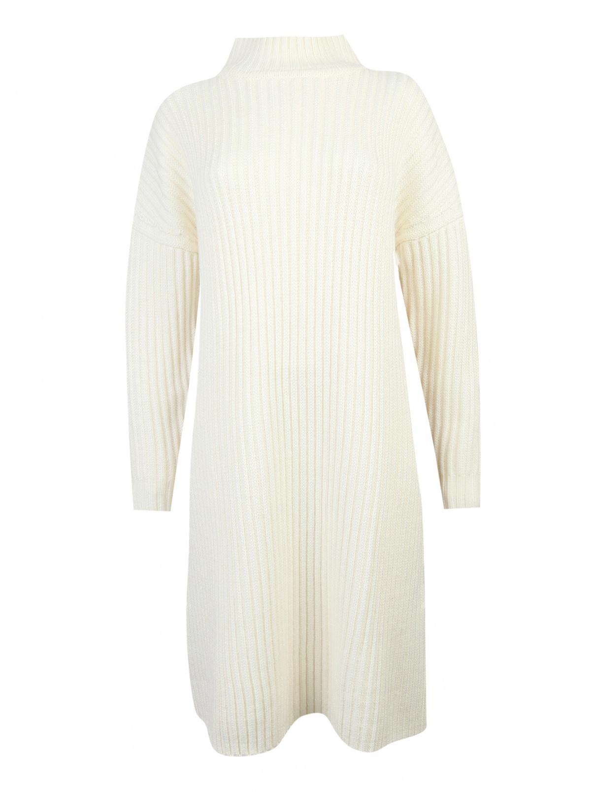 Платье трикотажное из шерсти Jil Sander Navy  –  Общий вид