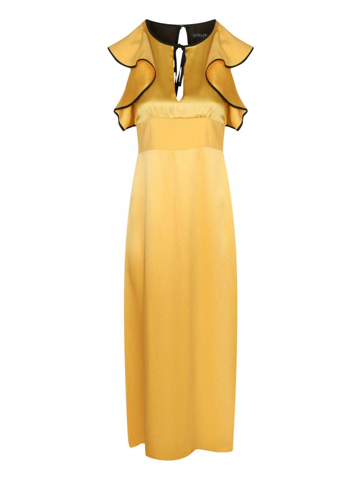 Платье-миди с контрастной отделкой ALEXACHUNG  –  Общий вид