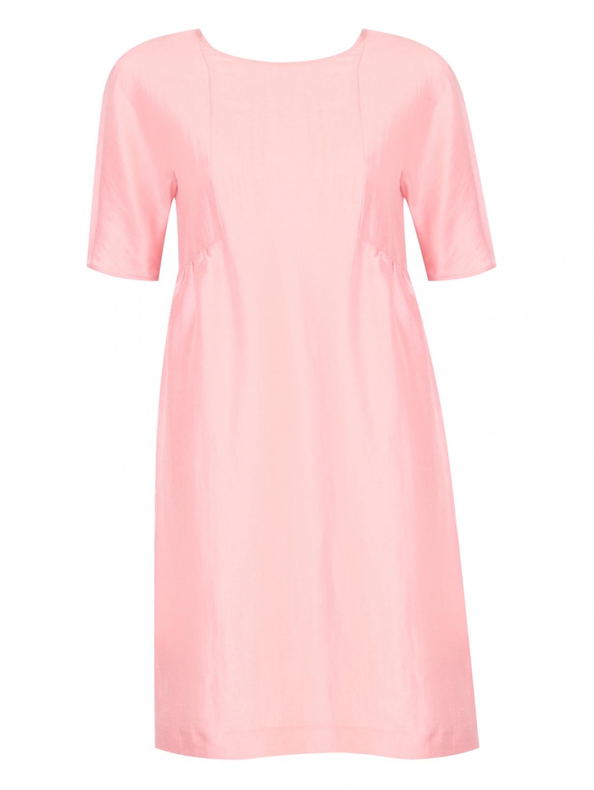 Платье из льна и шелка с короткими рукавами Weekend Max Mara  –  Общий вид