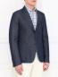 Пиджак однобортный из денима Gucci  –  Модель Верх-Низ