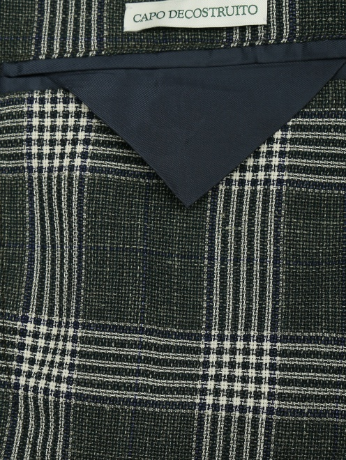 Пиджак из шерсти и льна  - Деталь2