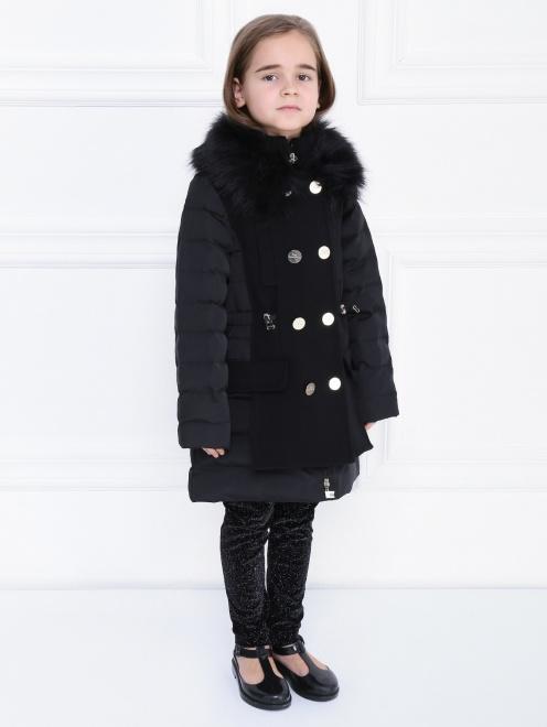 Пальто утепленное с декором на вороте - МодельВерхНиз