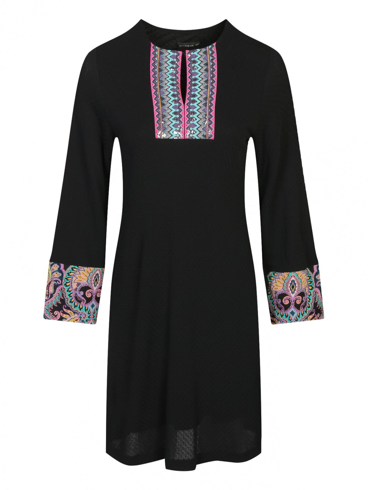 Платье прямого кроя с декоративной отделкой и вышивкой Etro  –  Общий вид