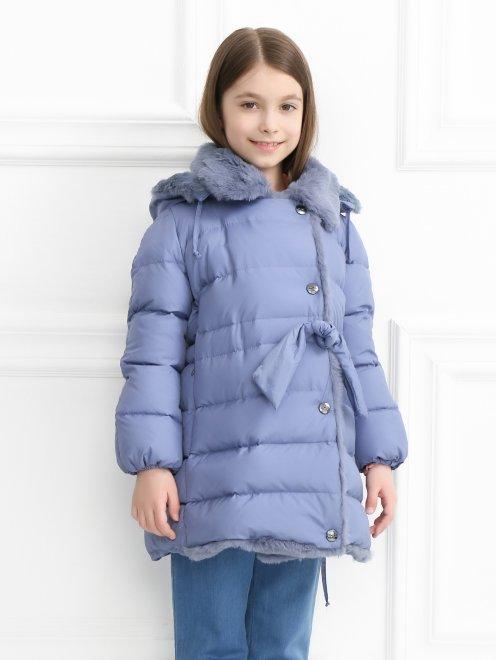 Куртка на подкладе из меха кролика - МодельВерхНиз