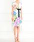 Платье из смешанного хлопка с цветочным узором и поясом в комплекте Antonio Marras  –  Модель Общий вид
