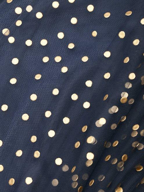 Платье-макси из сетки декорированное кристаллами - Деталь