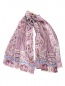 Шарф из шерсти и шелка с принтом пейсли Etro  –  Общий вид