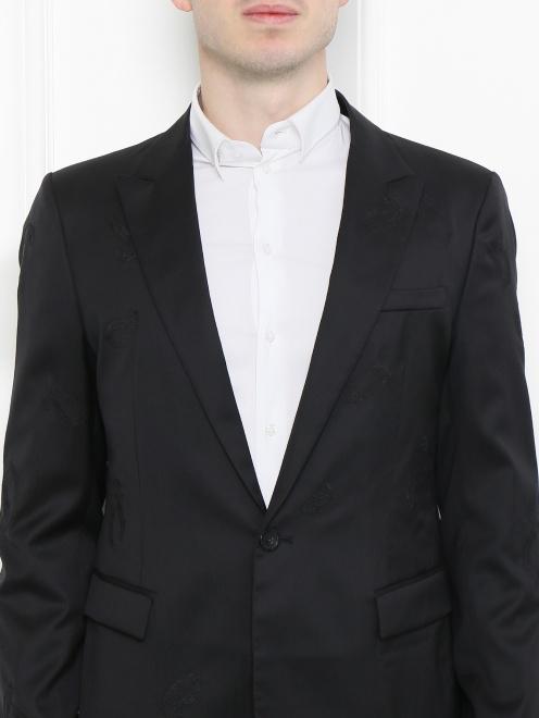 Пиджак из шерсти и шелка - МодельОбщийВид1