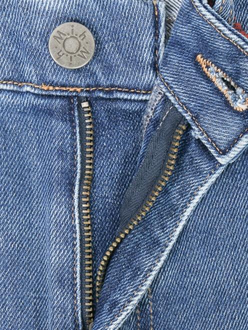 Укороченные джинсы расклешенного кроя - Деталь1