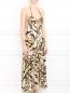 Платье-миди с узором и вырезом на спине Mariella Burani  –  Модель Верх-Низ