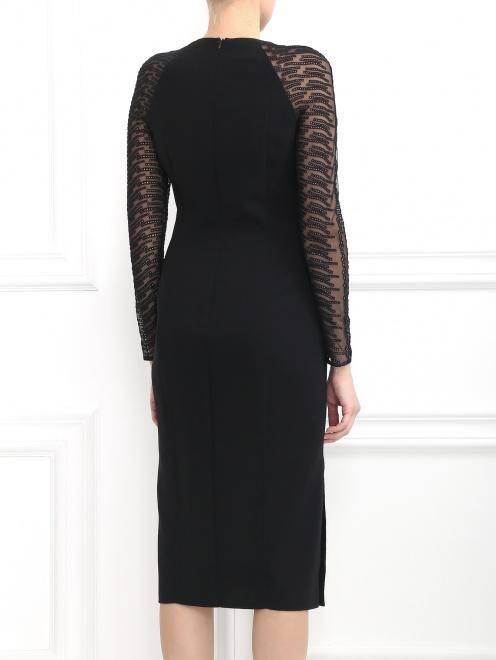 Платье-футляр из шерсти - Модель Верх-Низ1