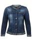 Джинсовая куртка декорированная стеклярусом 7 For All Mankind  –  Общий вид