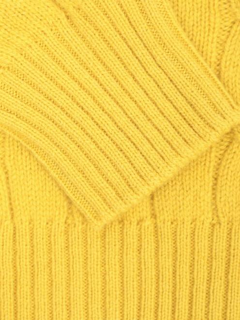 Водолазка из шерсти с узорной вязкой - Деталь1