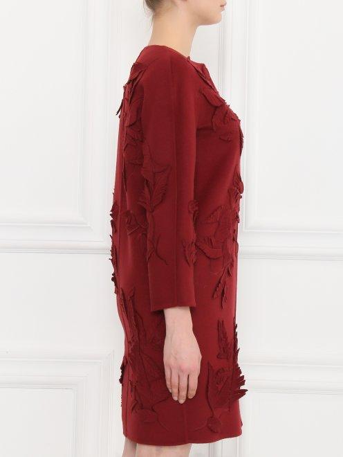 Пальто из шерсти с декором - Модель Верх-Низ2
