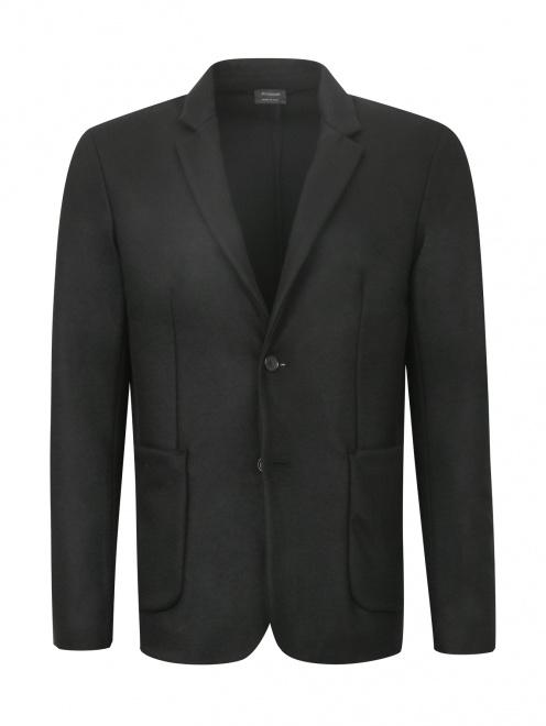Жакет из шерсти с накладными карманами - Общий вид